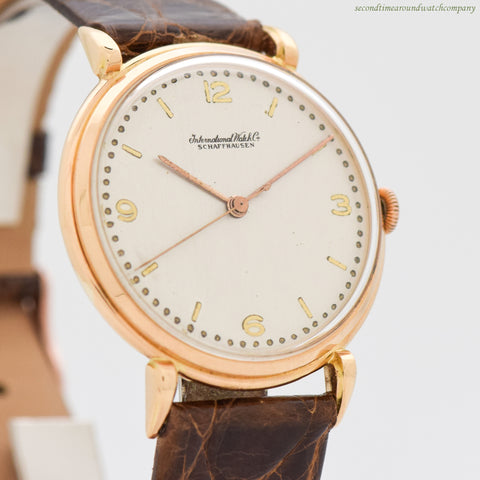 1950 Vintage International Watch Co. Cal 89 18k Light Rose Gold Watch