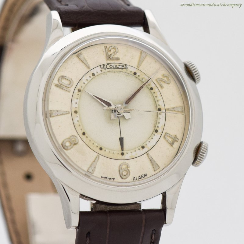1950's era Jaeger LeCoultre Wrist Alarm Stainless Steel Watch