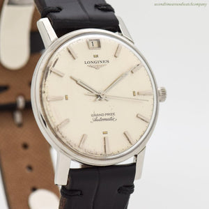 1963 Vintage Longines Grand Prize Automatic Stainless Steel Watch