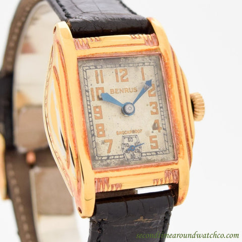 1920's Vintage Benrus M10 Rose Gold Filled Watch