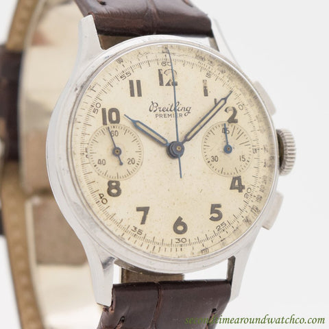 1945 Vintage Breitling Premier 2 Register Chronograph Watch