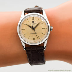 1956 Vintage Universal Geneve Stainless Steel Watch
