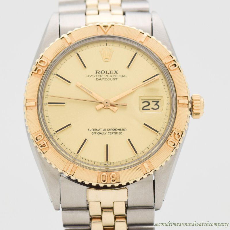 1977 Vintage Rolex Thunderbird Datejust Reference 1625 14k Yellow Gold & Stainless Steel Watch