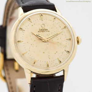 1952 Vintage Omega Automatic Ref. G6518 14k Yellow Gold Watch (# 11788)