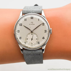 1943 Vintage Omega Jumbo Ref. 2181 Stainless Steel Watch