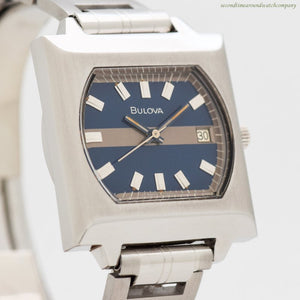 1973 Vintage Bulova Reference T-3263 Square-shaped Stainless Steel Watch
