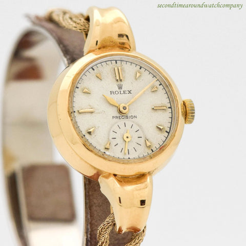 1945 Vintage Rolex Ladies Bubbleback Ref. 4437 18k Yellow Gold Watch