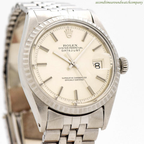 1970 Vintage Rolex Datejust Ref. 1603 Stainless Steel Watch