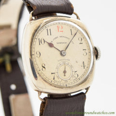 1920's Vintage Longines Cushion-shaped Sterling Silver Watch