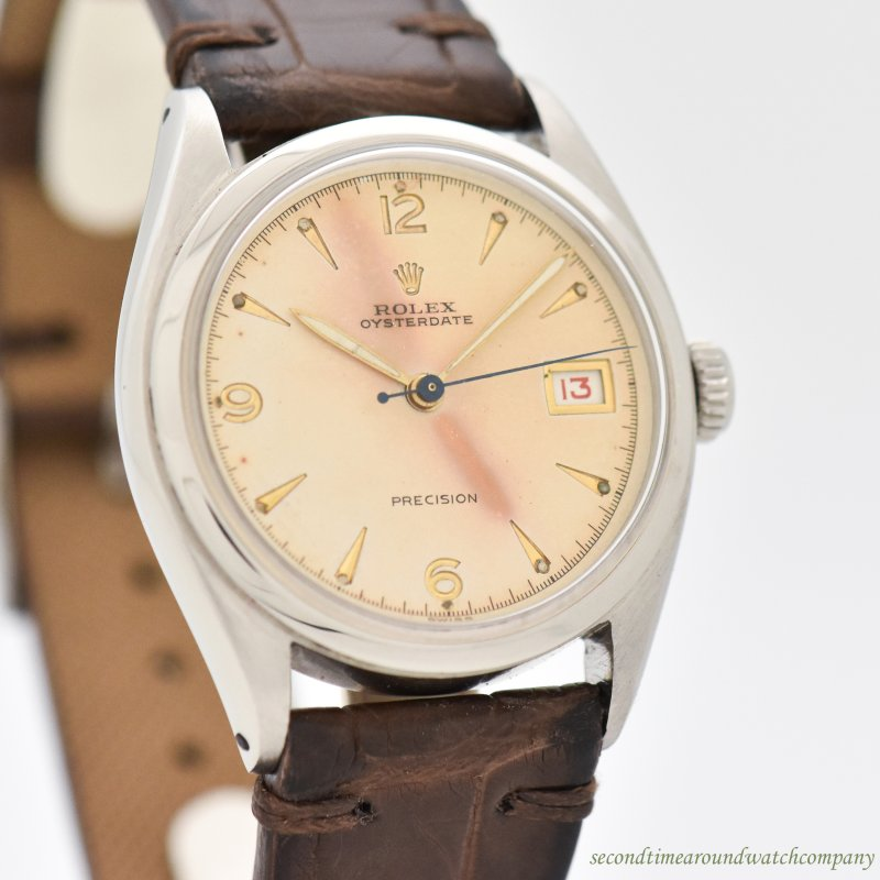 1951 Vintage Rolex Oysterdate Ref. 6094 Stainless Steel Watch