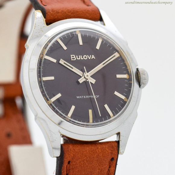 1958 Vintage Bulova L8 Stainless Steel Watch