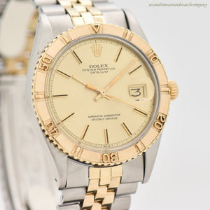 1971 Vintage Rolex Thunderbird Datejust Reference 1625 Two-tone, 14K YG & SS Watch
