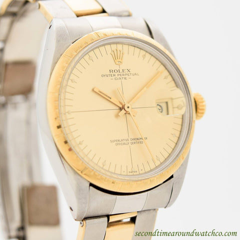 1971 Vintage Rolex Zephyr Date Automatic Ref. 1512 14K Yellow Gold & Stainless Steel Watch