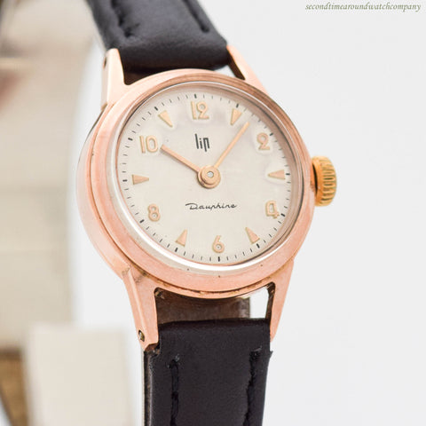 1980's LIP Ladies Dauphine Ladies Rose Gold Filled Watch