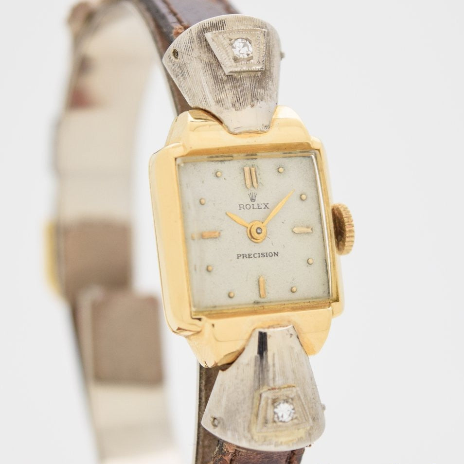 1940's Vintage Rolex Precision Ladies Ref. 4211 18k Yellow Gold Watch
