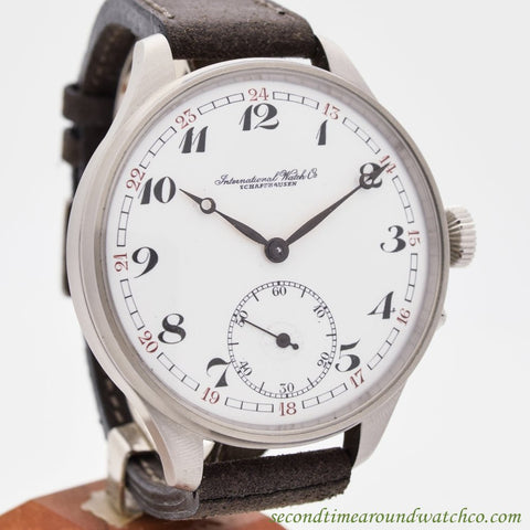 1907 Vintage International Watch Co. Pocket Watch Conversion Stainless Steel Watch