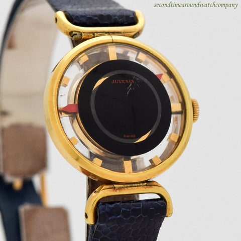 1970's Vintage Juvenia Cocktail 18K Yellow Gold Plated Watch