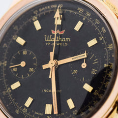 1960's Vintage Waltham 2-Register Chronograph Base Metal & Stainless Steel Watch