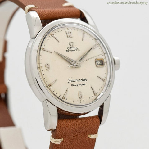1956 Vintage Omega Seamaster Calendar Ref. 2849-2-SC Stainless Steel Watch