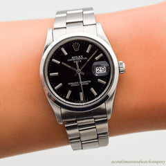 1984 Vintage Rolex Date Ref. 15000 Automatic Stainless Steel Watch