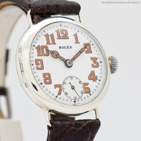 1910's era Rolex Military WWI-era Sterling Silver Watch