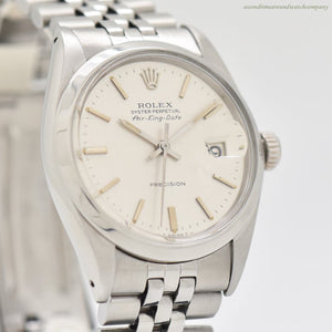 1972 Vintage Rolex Air-King Date Reference 5700 Stainless Steel Watch