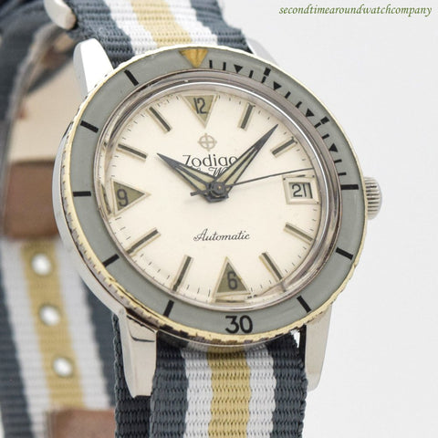1960's Vintage Zodiac Sea Wolf Ref. 722-946 Stainless Steel Watch