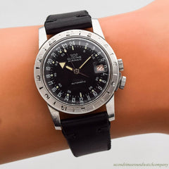 1960's era Glycine Airman Stainless Steel Watch
