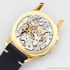 1940's-50's Dreffa by Chronographe Suisse  2-Register Chrono with a Yellow Gold Plated & Stainless Steel Case