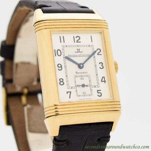 2000's era Jaeger Le Coultre Reverso 18k Yellow Gold Watch