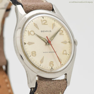 1960's era Benrus Reference 3061 Stainless Steel Watch