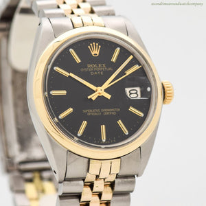 1969 Vintage Rolex Date Automatic Reference 1500 14k Yellow Gold & Stainless Steel Watch
