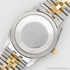 1972 Vintage Rolex Thunderbird Datejust Reference 1625 14k Yellow Gold & Stainless Steel Watch