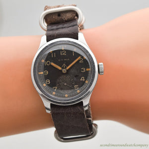 1940's Vintage Cyma WWII-era Military RAF Stainless Steel Watch