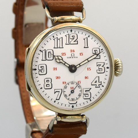 1916 Omega Military World War I Steel Watch