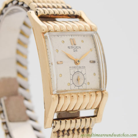 1953 Vintage Gruen Precision 10K Yellow Gold Filled Watch
