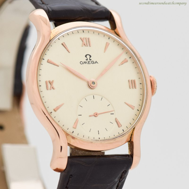 1944 Vintage Omega 18k Rose Gold Watch