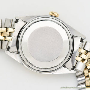 1972 Vintage Rolex Datejust Reference 1601 Two-tone: 14k Yellow Gold & Stainless Steel
