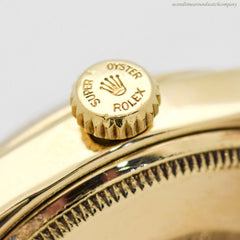 1954 Vintage Rolex Bombe Ref. 6092 14K Yellow Gold Watch