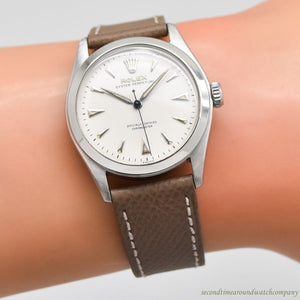 1952 Vintage Rolex Oyster Perpetual Reference 6108 Stainless Steel Watch