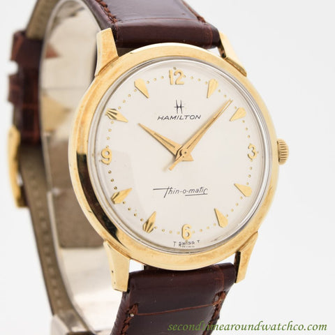 1970 Vintage Hamilton Thin-o-matic 10k Yellow Gold Filled Watch