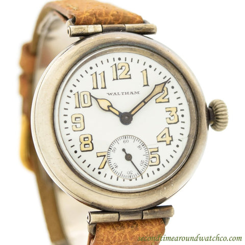 1918 Vintage Waltham Sterling Silver Watch