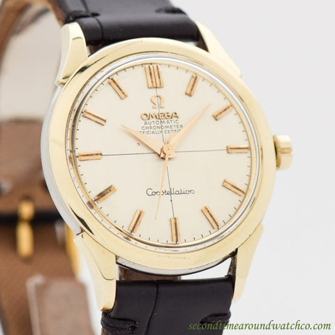 1958 Vintage Omega Constellation Ref. 2852-13-SC 14K Yellow Gold Shell Over Stainless Steel Watch