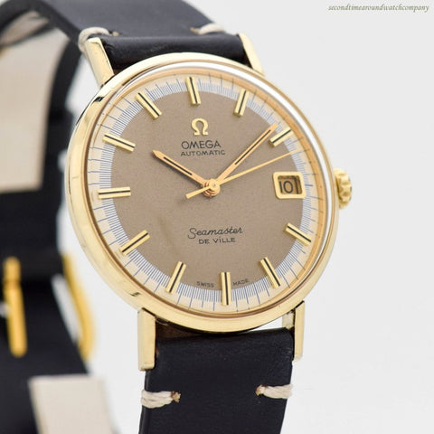 1971 Vintage Omega Seamaster De Ville 14k Yellow Gold Filled Watch