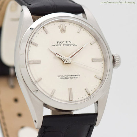 1968 Vintage Rolex Oyster Perpetual Ref. 1018 Stainless Steel Watch
