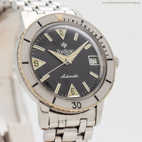 1960's era Zodiac Sea Wolf Ref. 722-946 Stainless Steel Watch