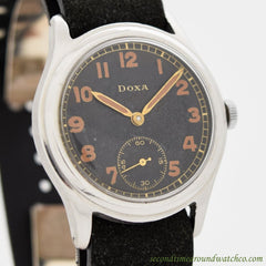 1940's Vintage Doxa Military WWII-era Stainless Steel Watch