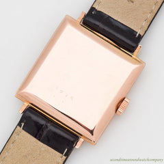 1944 Vintage Rolex Chronometer Ref. 5275 Square-shaped 18k Rose Gold Watch