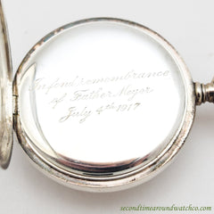 1914 Vintage Tiffany & Co. Pocket Watch Silver Watch