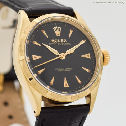 1952 Vintage Rolex Oyster Perpetual Ref. 6285 14k Yellow Gold Watch